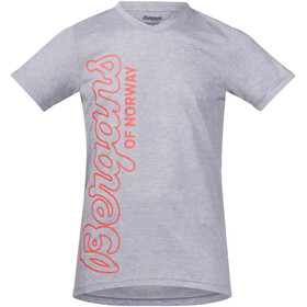 Bergans Youth Tee Grey Melange/Koi Orange